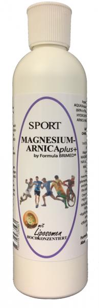 MAGNESIUM SPORT (60%) mit ARNICA GEL mit Liposomen 250 ml HOCHKONZENTRIERT